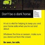 Don't be a Dark Horse - be seen, be safe.